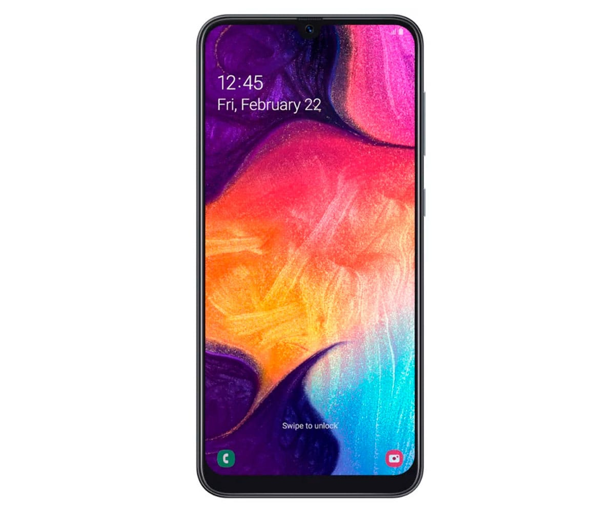 SAMSUNG GALAXY A50 NEGRO MÓVIL 4G DUAL SIM 6.4 SUPER AMOLED FHD+/8CORE/128GB/4GB RAM/25MP+5MP+8MP/ - A50 A505 DS BLACK