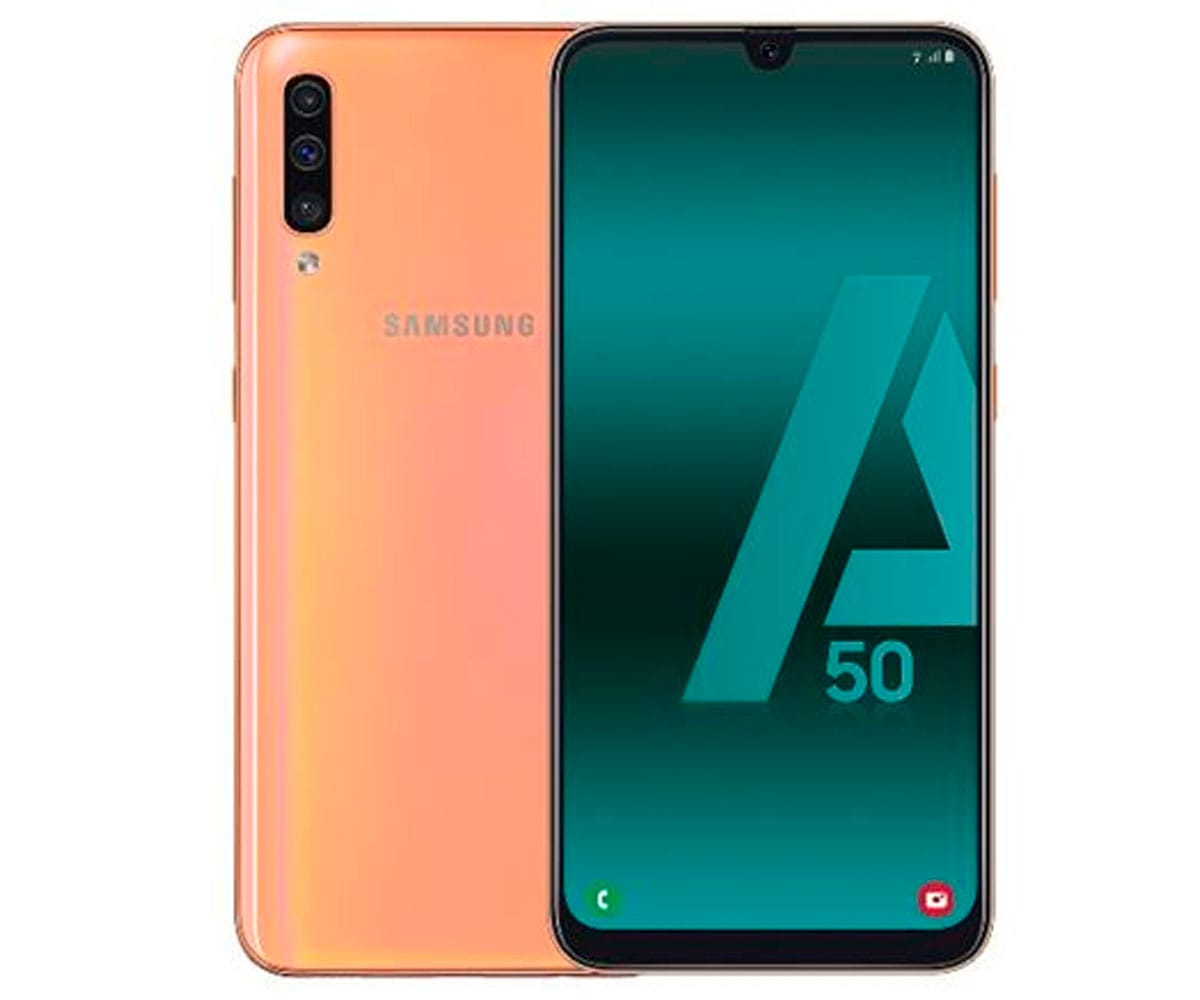 SAMSUNG GALAXY A50 NARANJA MÓVIL 4G DUAL SIM 6.4 SUPER AMOLED FHD+/8CORE/128GB/4GB RAM/25MP+5MP+8M - A50 A505 DS ORANGE