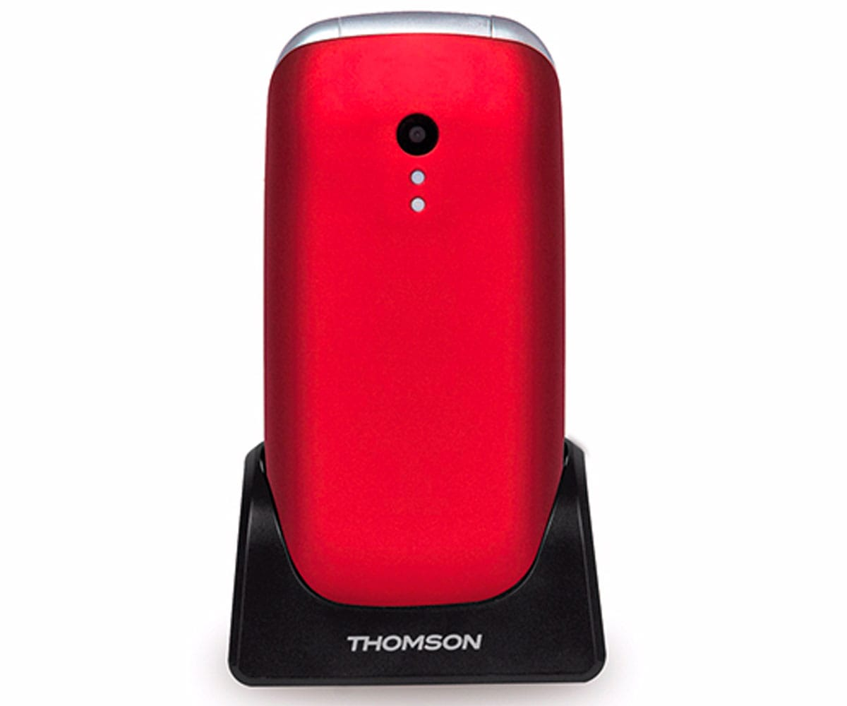 THOMSON SEREA 63 ROJO MÓVIL SENIOR PLEGABLE 2.4'' TFT BLUETOOTH CÁMARA VGA RADIO FM
