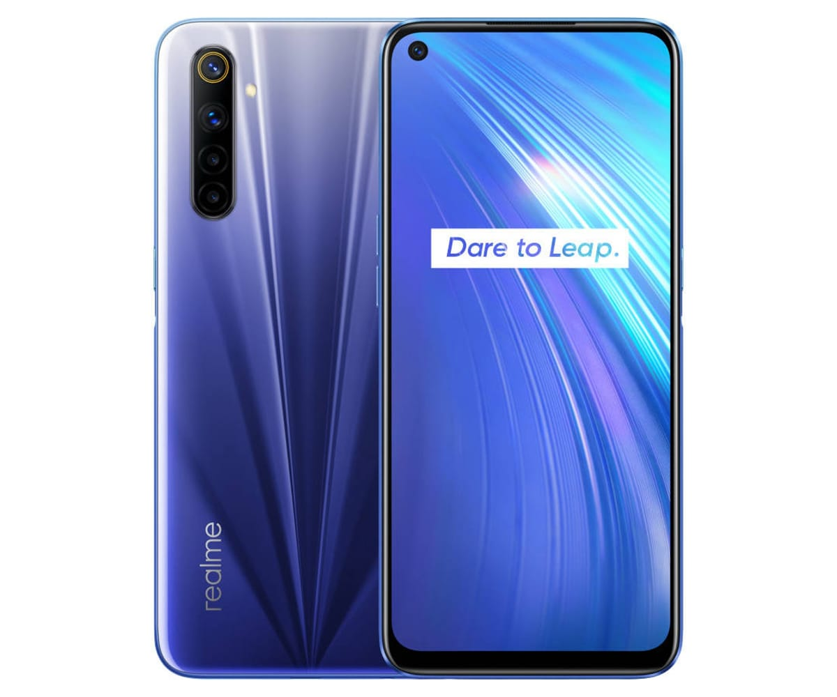 REALME 6 COMET BLUE 4G DUAL SIM 6.5'' IPS 90Hz FHD+ OCTACORE 64GB 4GB RAM QUADCAM 64MP SELFIES 16MP