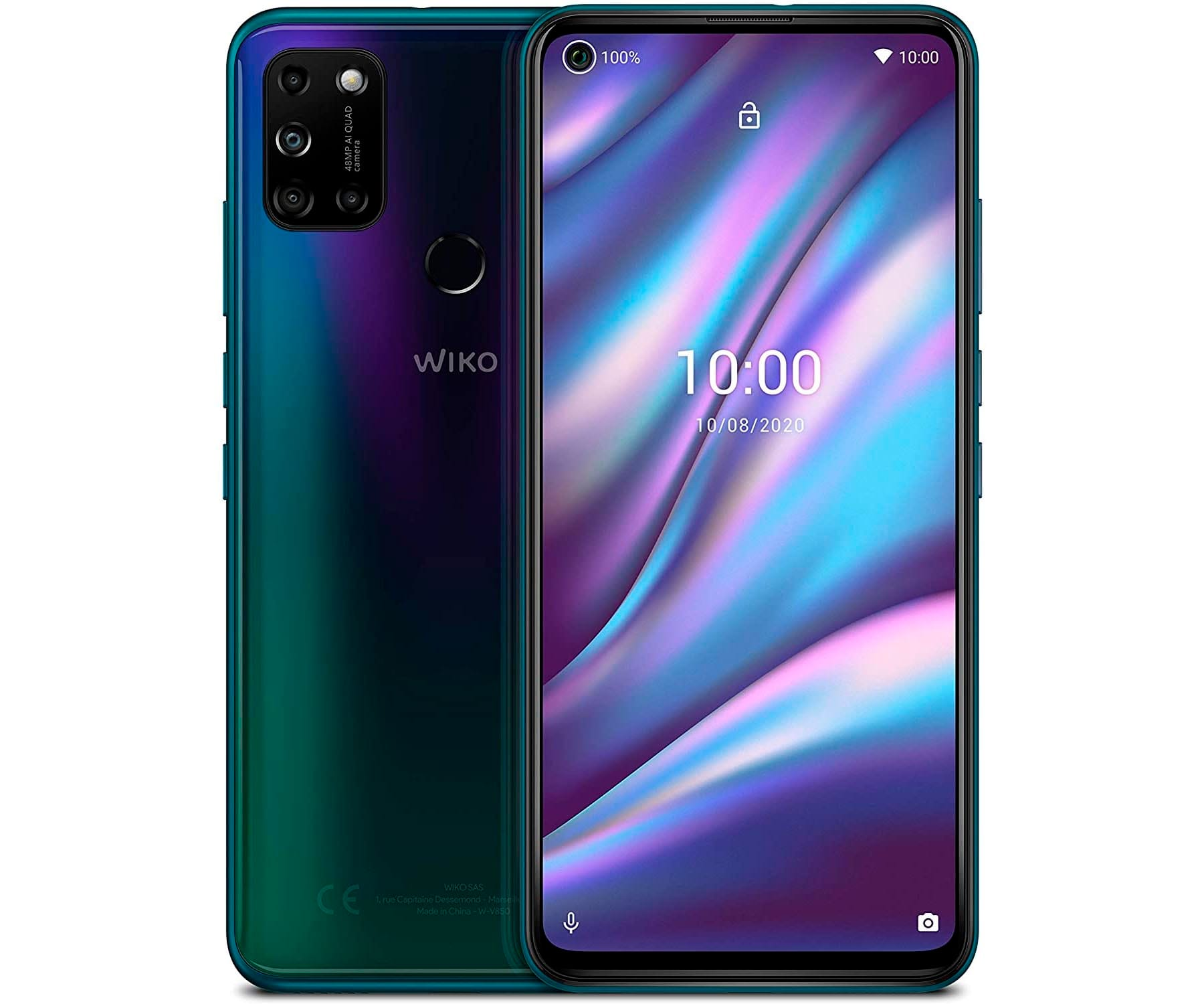 WIKO VIEW5 PLUS AZUL MÓVIL 4G DUAL SIM 6.55'' IPS HD+ OCTACORE 128GB 4GB RAM QUADCAM 48MP SELFIES 8MP