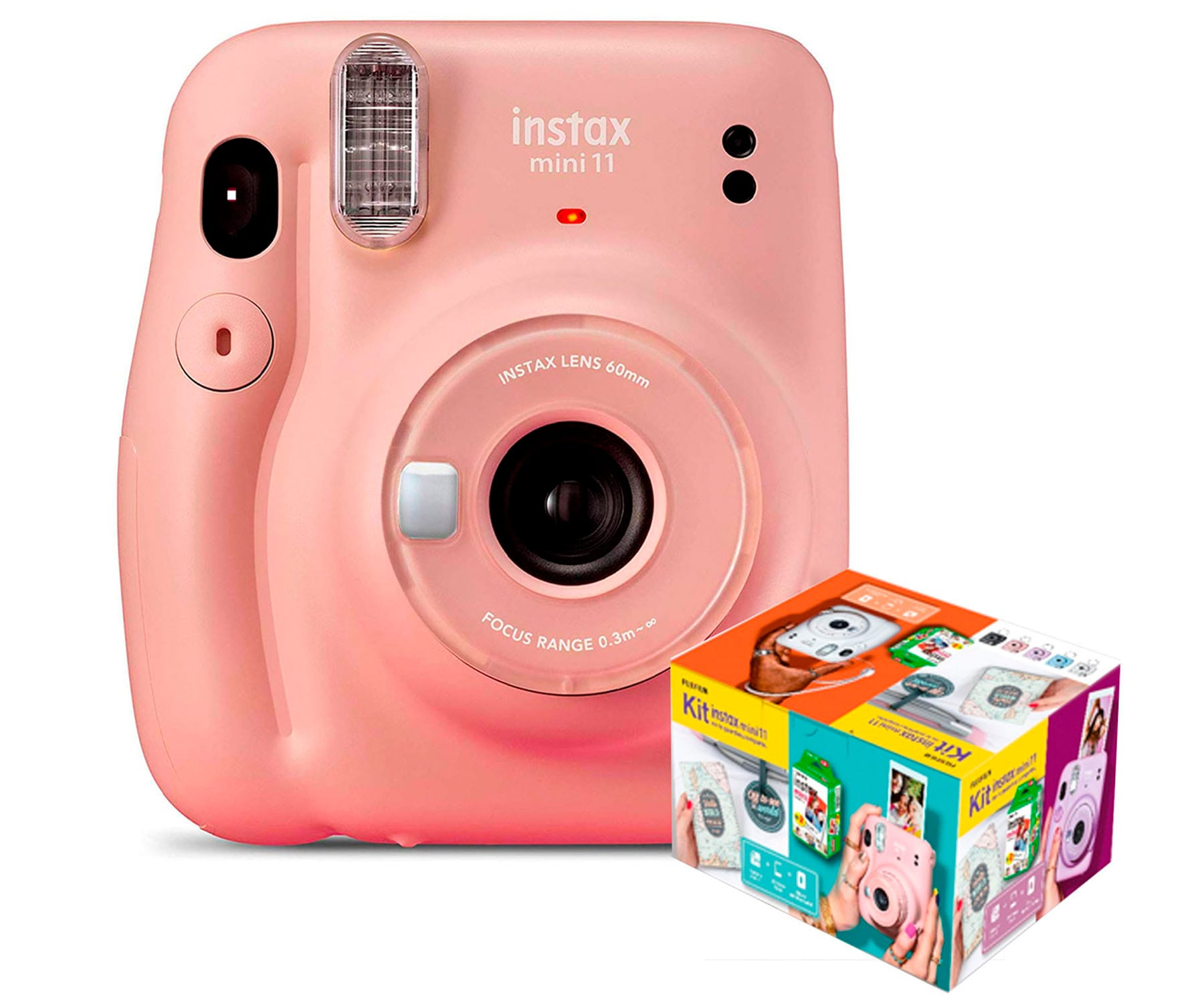 FUJIFILM INSTAX MINI 11 ROSA CÁMARA INSTANTÁNEA KIT MR. WONDERFUL