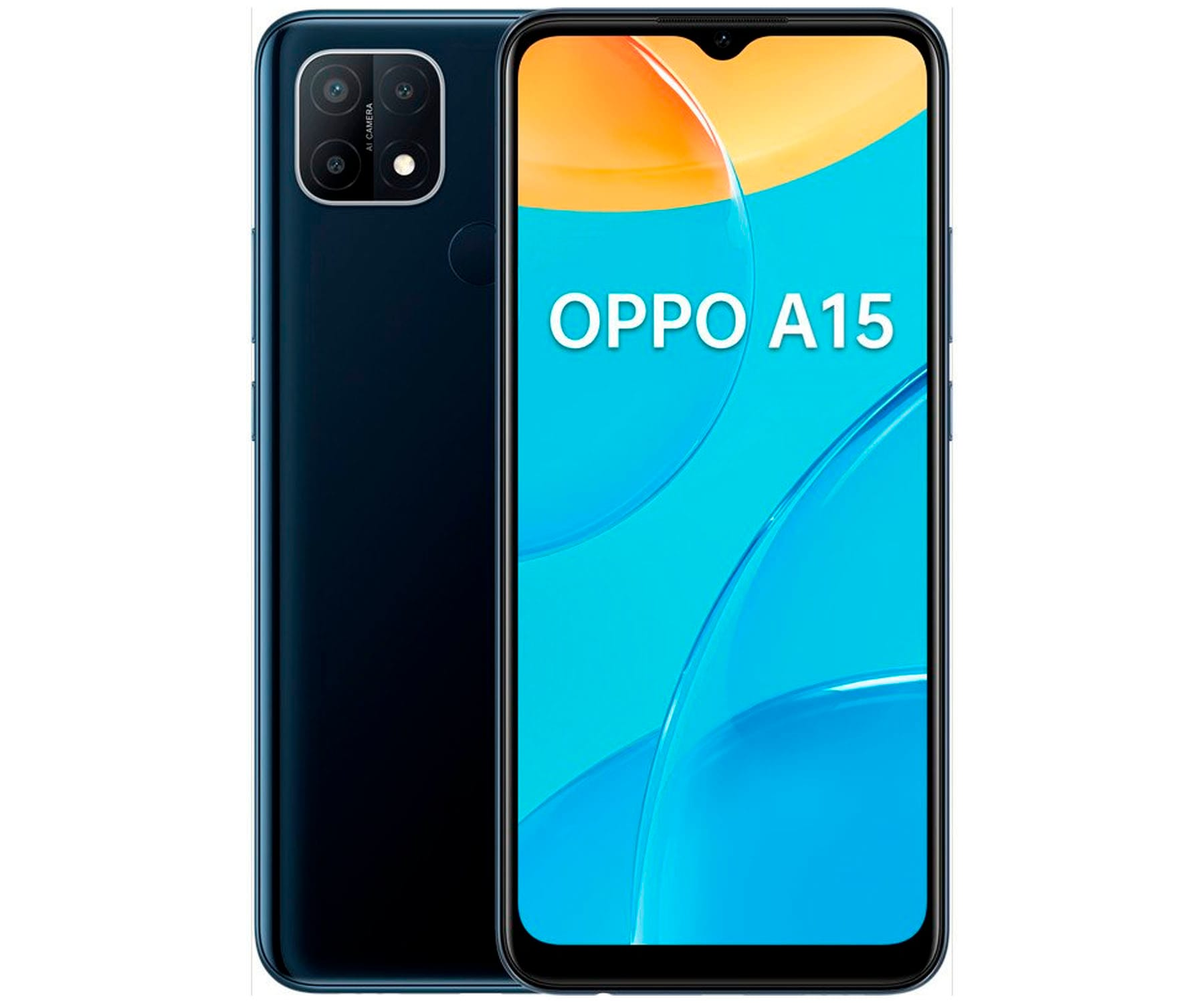 OPPO A15 NEGRO DINÁMICO MÓVIL 4G 6.52'' HD+ OCTACORE 32GB 3GB RAM TRICAM 13MP SELFIES 5MP