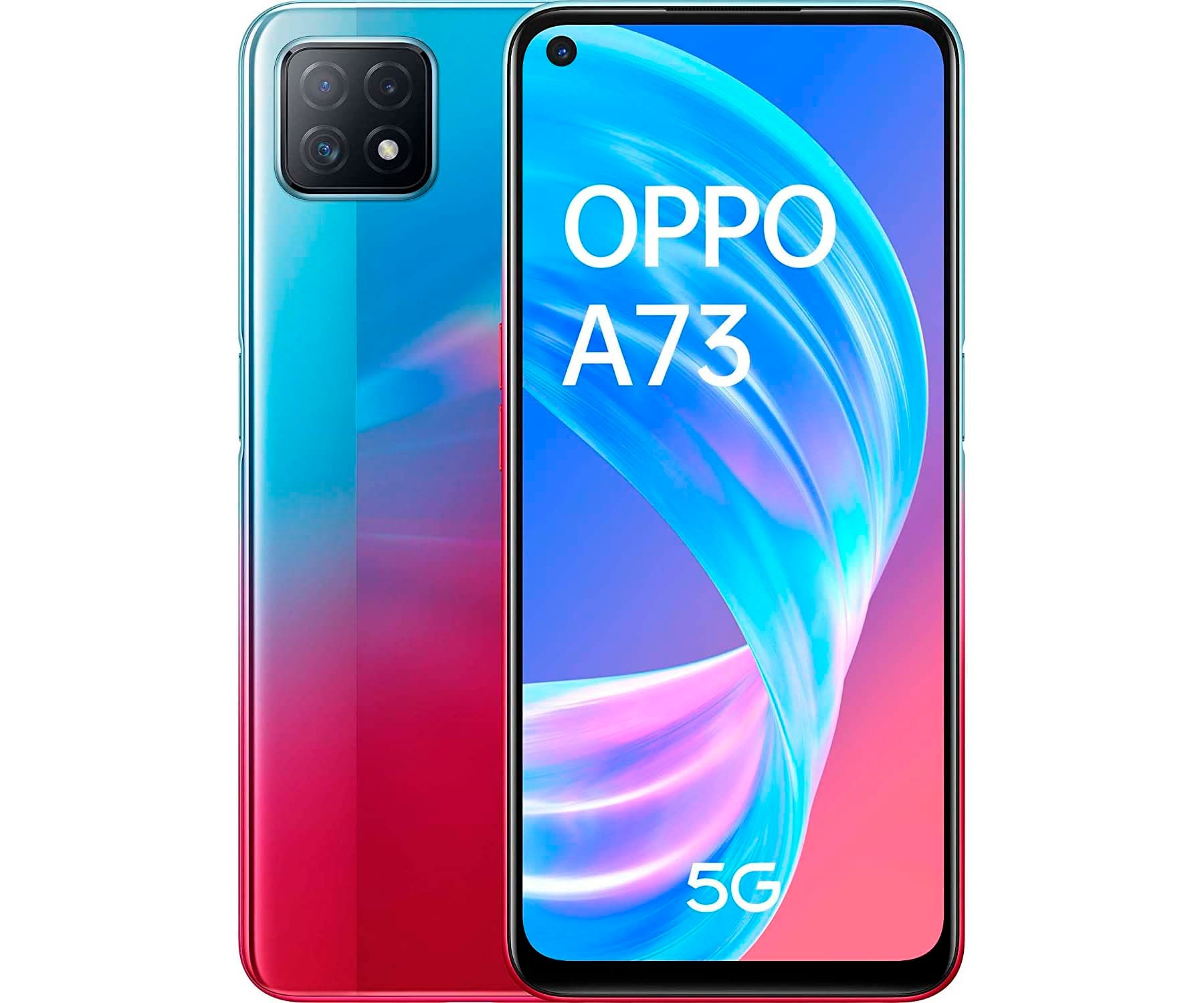 OPPO A73 NEON MÓVIL 5G DUAL SIM 6.5'' 90Hz FHD+ OCTACORE 128GB 8GB RAM TRICAM 16MP SELFIES 8MP