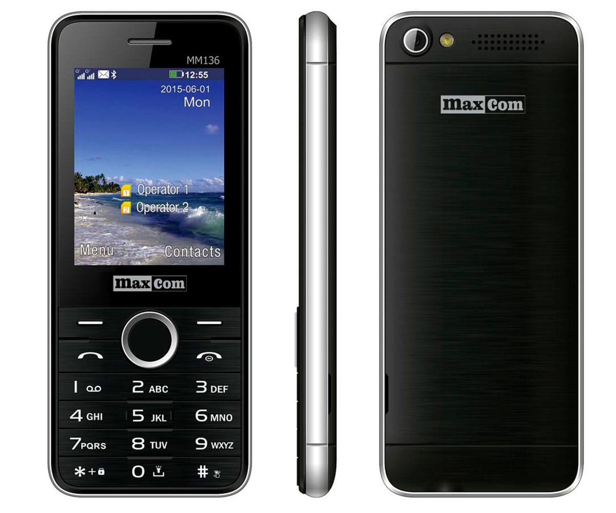 MAXCOM MM136 NEGRO MÓVIL DUAL SIM 2.4 BLUETOOTH - MM136 NEGRO