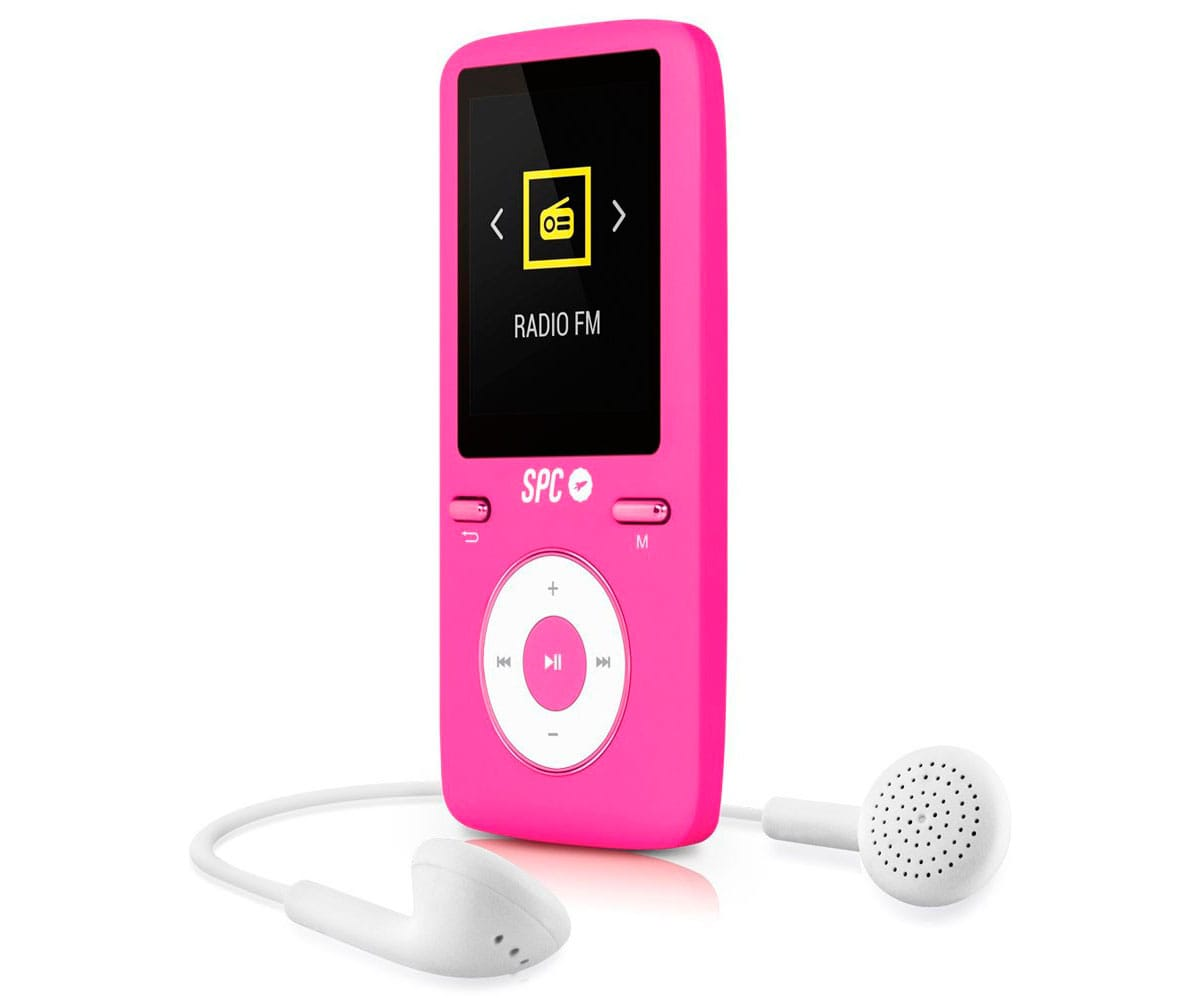 SPC PURE SOUND COLOUR 2 ROSA 8488P REPRODUCTOR MP3 8GB CON PANTALLA DE 1.8