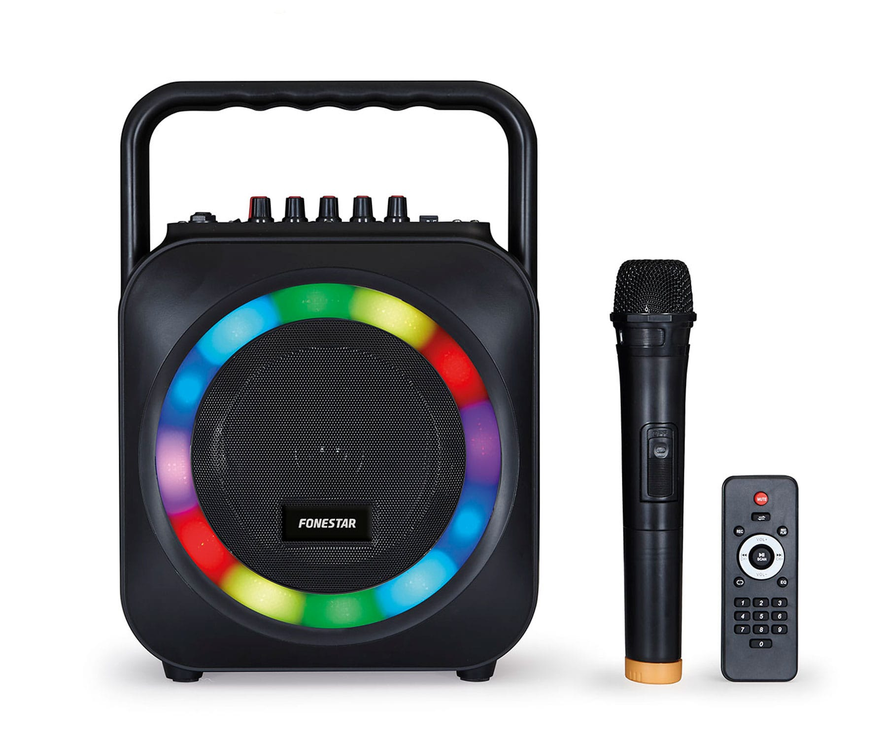 FONESTAR BOX-35LED GRAN HERMANO: REVOLUTION ALTAVOZ PORTÁTIL KARAOKE BLUETOOTH USB SD LUCES LED - BOX-35LED