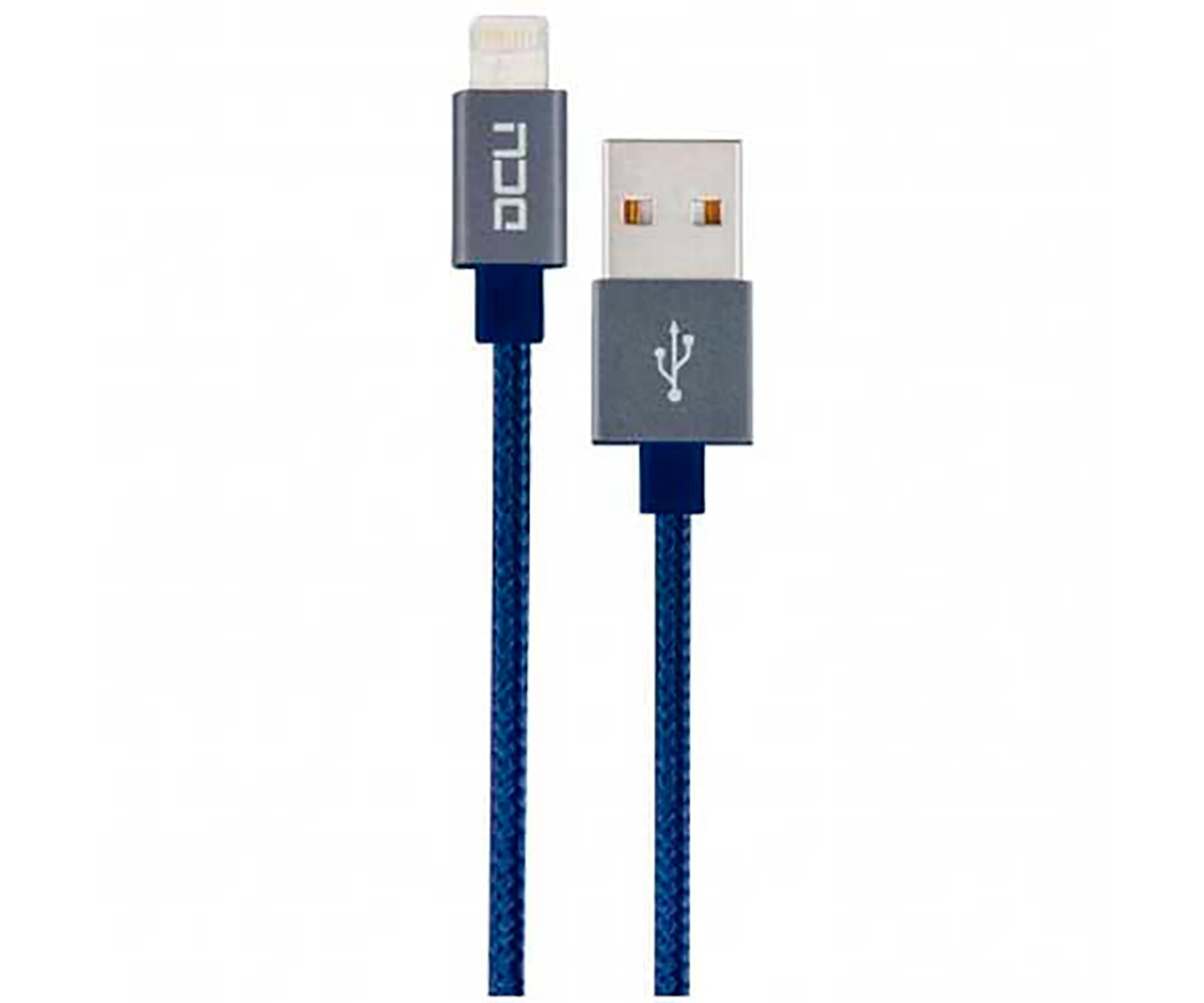 DCU CABLE AZUL LIGHTNING PARA IPHONE, IPAD E IPOD A USB 2 METROS