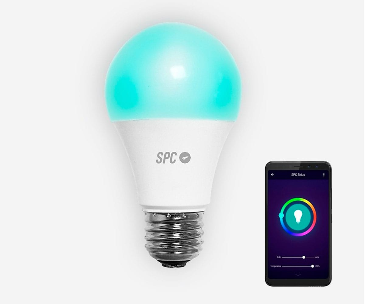 SPC 6103B BOMBILLA LED WI-FI INTELIGENTE CON LUZ REGULABLE RGB CONTROLABLE REMOTAMENTE CON APLICACIÓ - 6103B