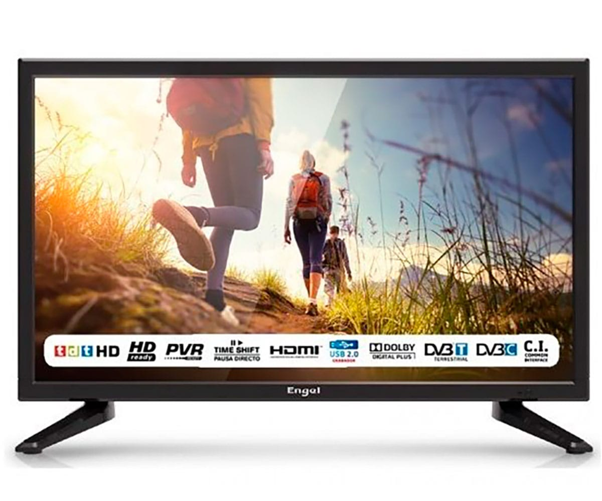 ENGEL 19LE1962 TELEVISOR 19 LCD LED HD READY HDMI USB Y REPRODUCTOR MULTIMEDIA ESPECIAL CAMPING
