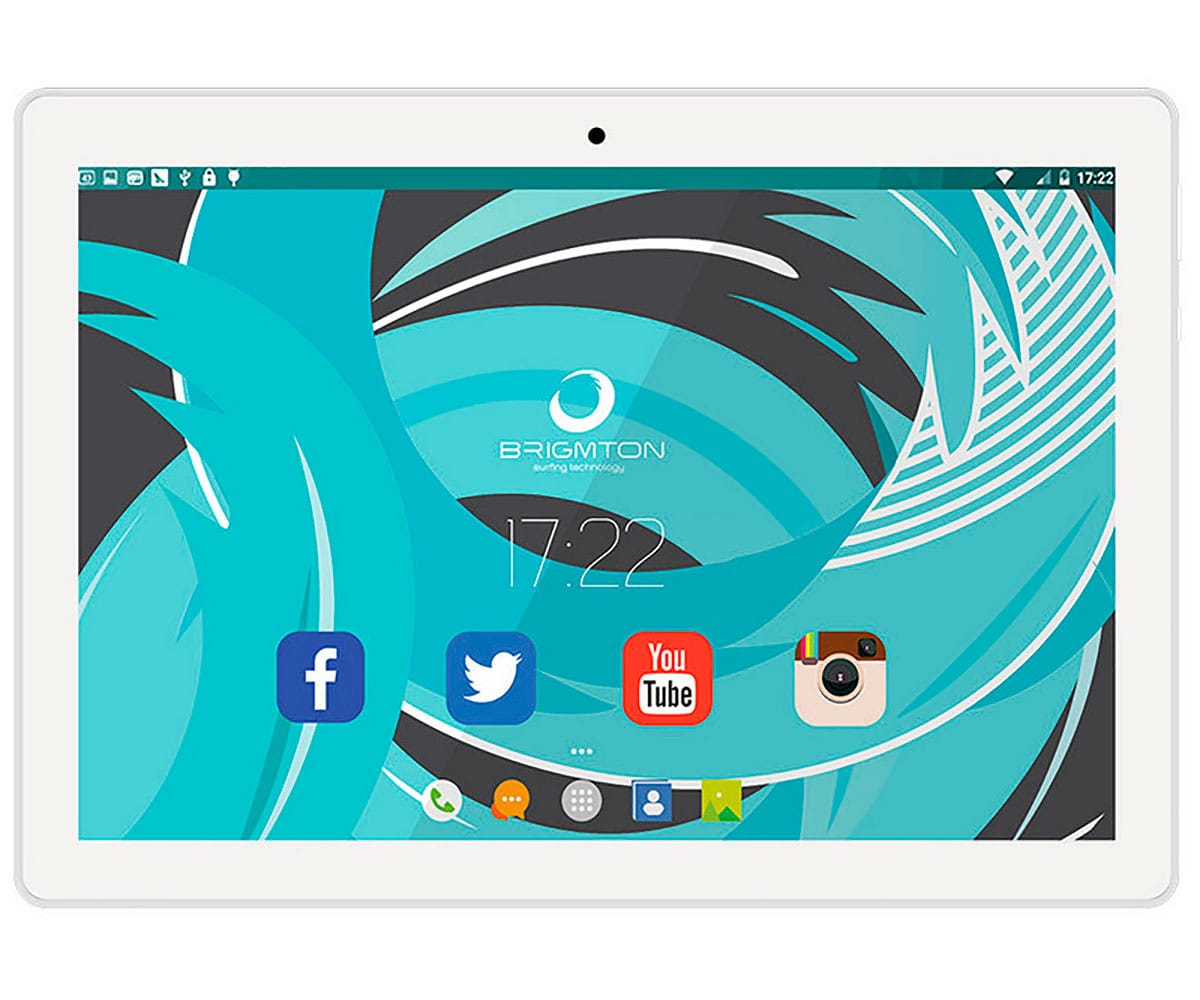 BRIGMTON BTPC-1024QC BLANCO TABLET WIFI 10'' IPS HD/4CORE/16GB/2GB RAM/2MP/0.3MP