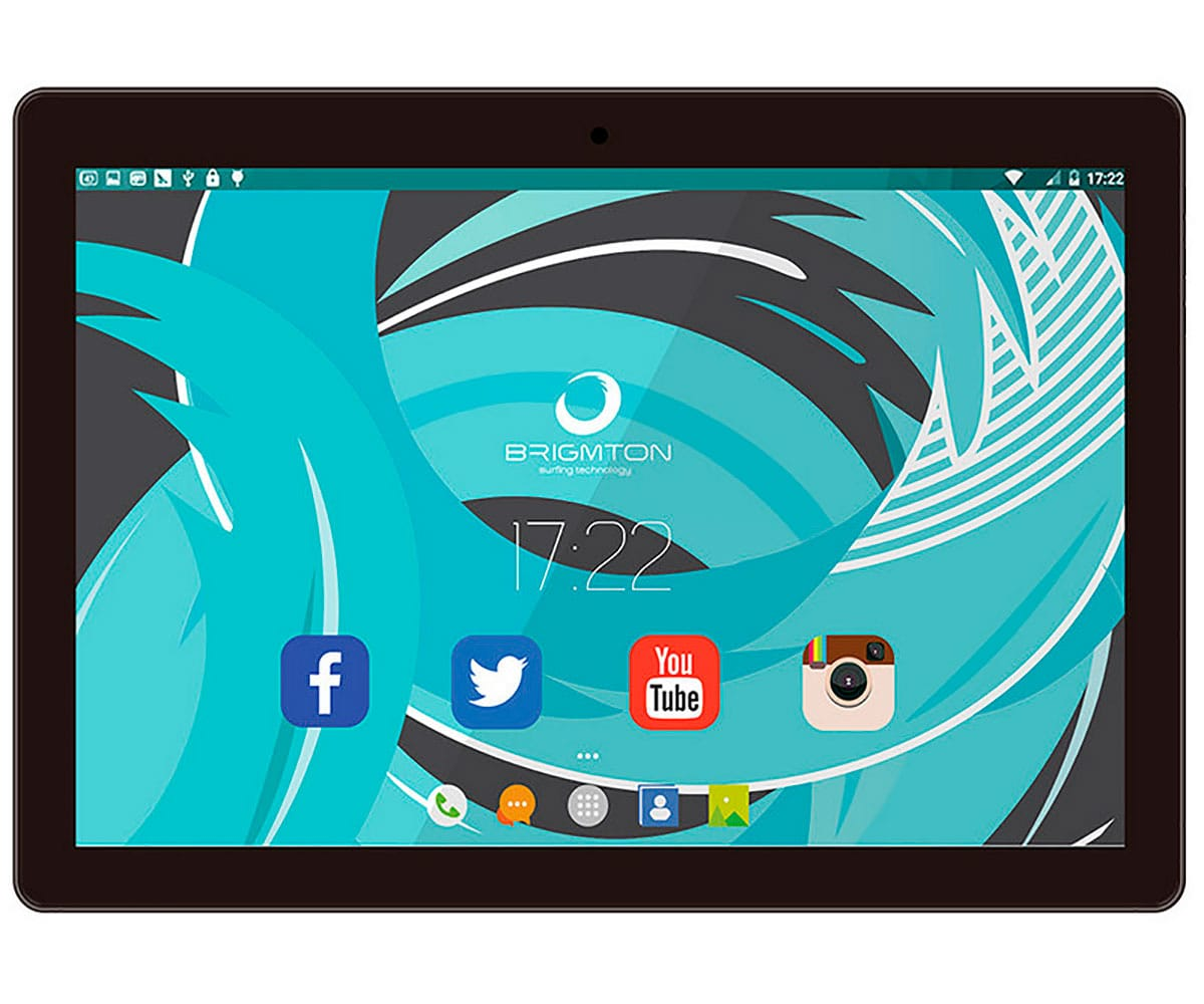 BRIGMTON BTPC-1024QC NEGRO TABLET WIFI 10'' IPS HD/4CORE/16GB/2GB RAM/2MP/0.3MP