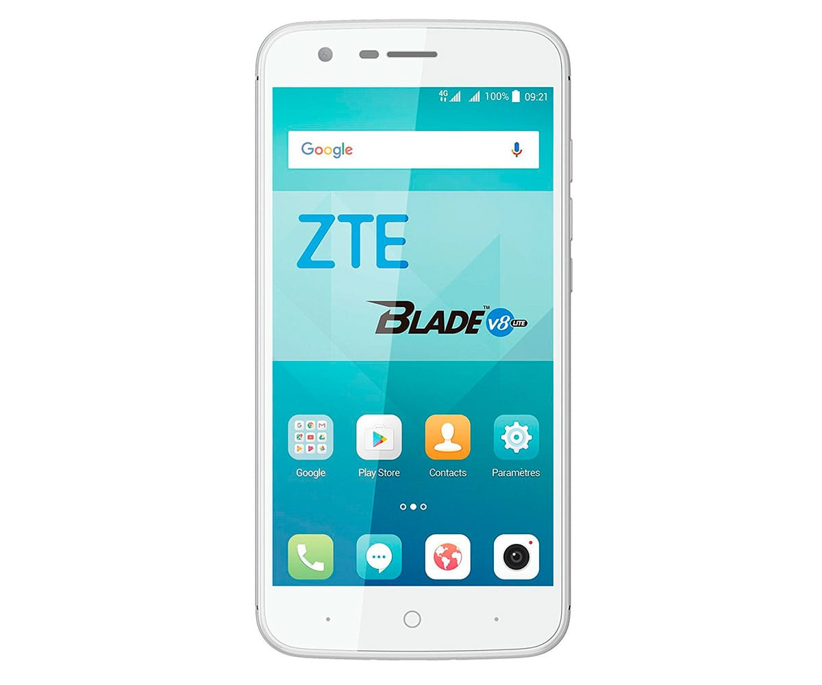 ZTE V8 LITE MÓVIL BLANCO PLATA 4G DUAL SIM 5 IPS/8CORE/16GB/2GB RAM/8MP/5MP