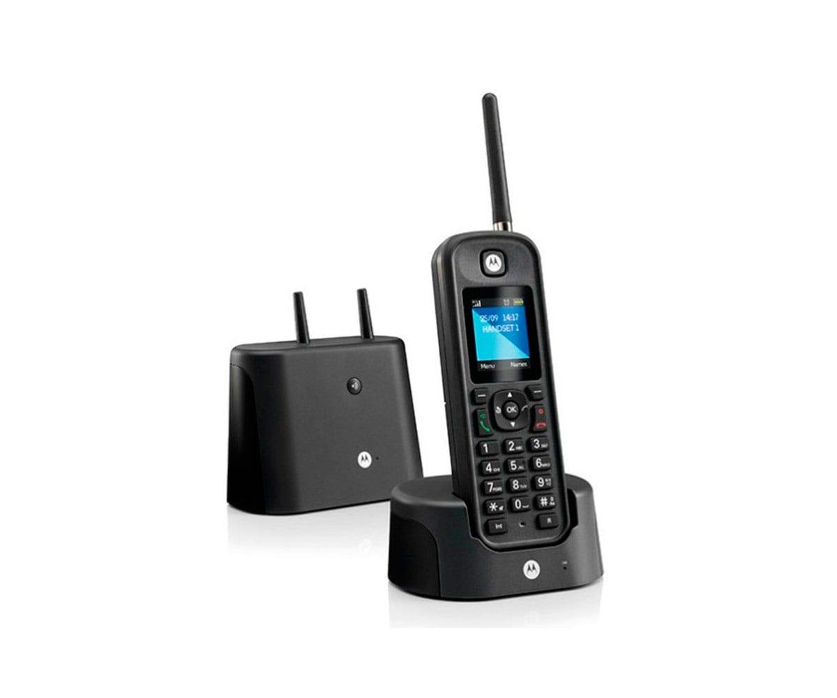 MOTOROLA O201 NEGRO TELÉFONO INALÁMBRICO RESISTENTE DE LARGO ALCANCE - O201 NEGRO