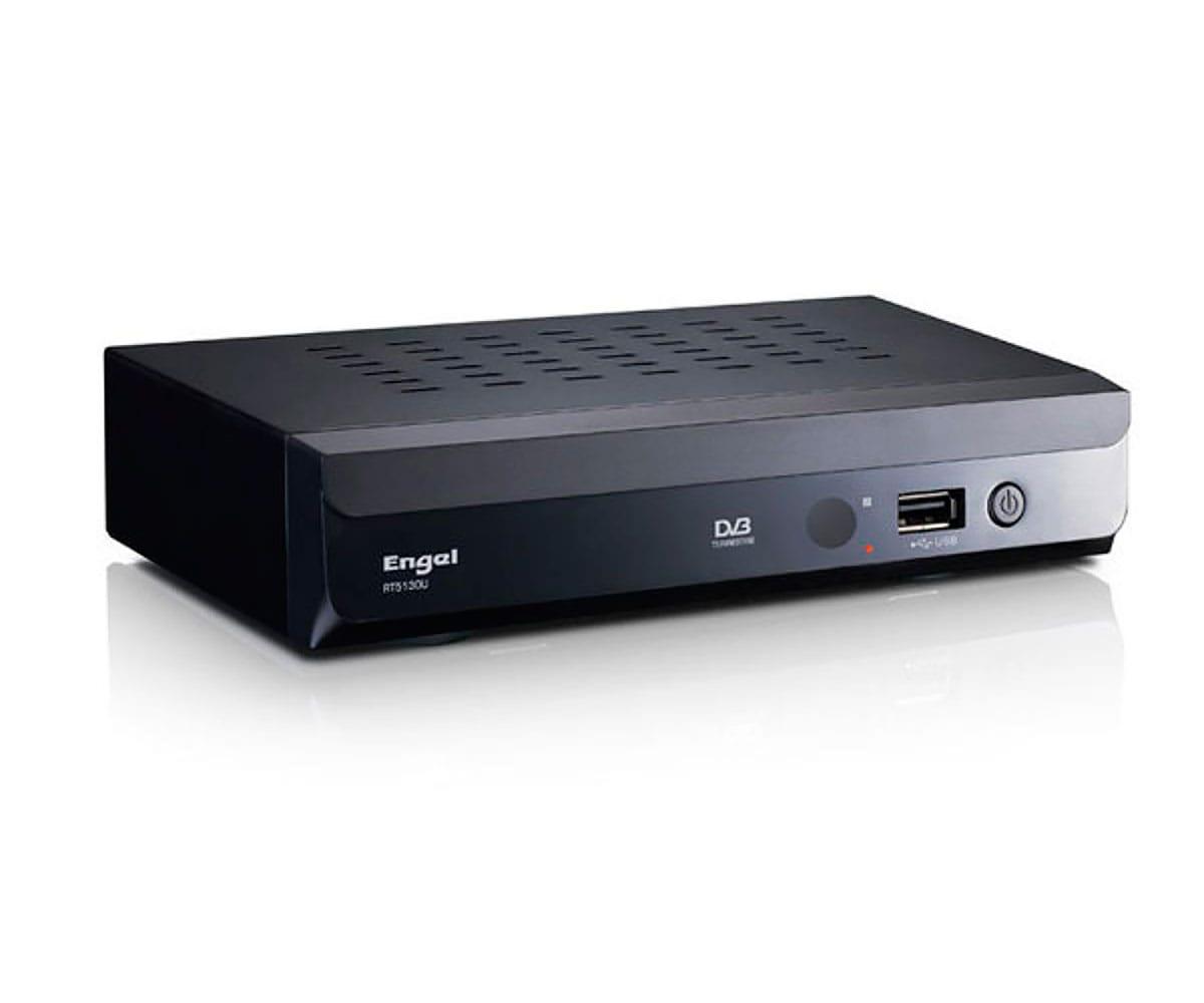 ENGEL RT5130U RECEPTOR DIGITAL TERRESTE CON ENTRADA USB TOMA DE EUROCONECTOR Y SALIDA DE AUDIO COAXI -