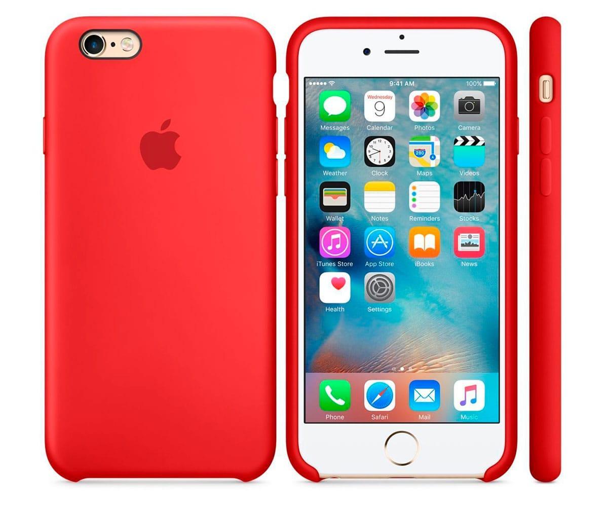 APPLE MKXM2ZM/A ROJO CARCASA DE SILICONA IPHONE 6S PLUS/ 6 PLUS - Esta funda de silicona, diseñada especialmente por Apple para el iPhone, se adapta perfectamente a los botones de volumen, el botón lateral y las curvas del teléfono, y no abulta nada. El forro de suave microfibra protege tu iPhone y la silicona exterior tiene un tacto tan agradable que te va a sorprender. Además puedes dejar la funda siempre puesta, incluso durante la carga inalámbrica del iPhone 8.