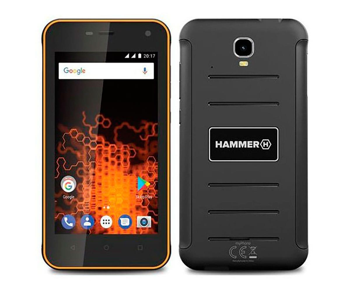 MYPHONE HAMMER ACTIVE NARANJA MÓVIL RESISTENTE 3G DUAL SIM 4.7 IPS HD/4CORE/8GB/1GB RAM/8MP/2MP - HAMMER ACTIVE NARANJA IMP