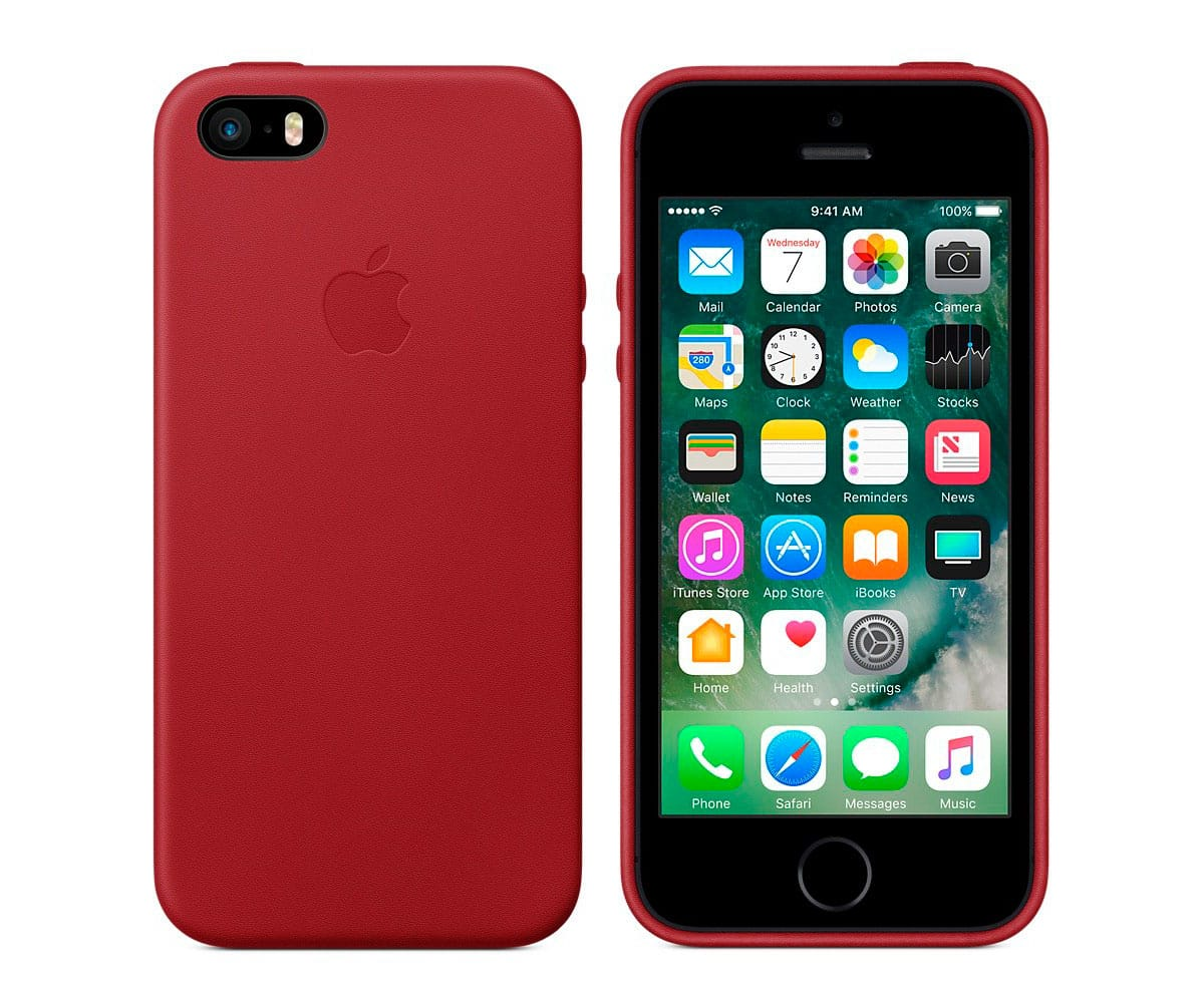 APPLE MR622ZM/A ROJO CARCASA DE PIEL APPLE IPHONE SE - MR622ZM/A