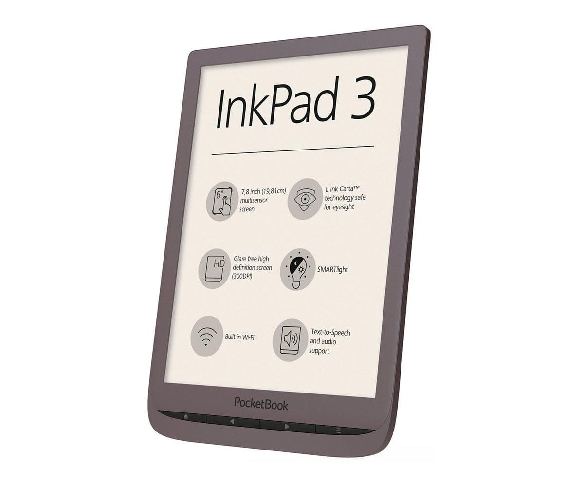POCKETBOOK INKPAD3 MARRÓN OSCURO E-BOOK LIBRO ELECTRÓNICO 7.8 E INK CARTA SMARTLIGHT WIFI 8GB Y MI - PB740-X-WW