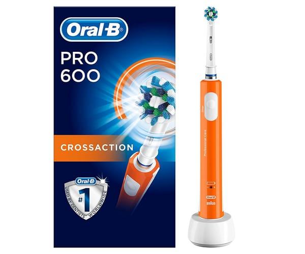 BRAUN ORAL-B PRO 600 CROSSACTION NARANJA CEPILLO DE DIENTES ELÉCTRICO RECARGABLE