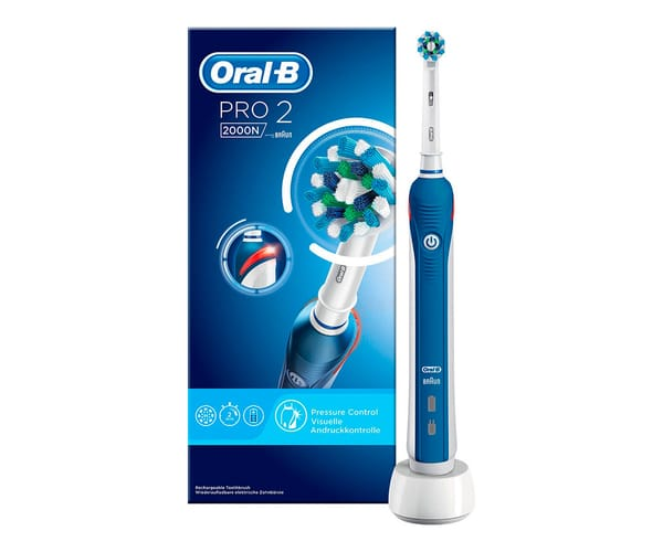 BRAUN ORAL-B PRO 2 2000N AZUL CROSSACTION CEPILLO DE DIENTES ELÉCTRICO