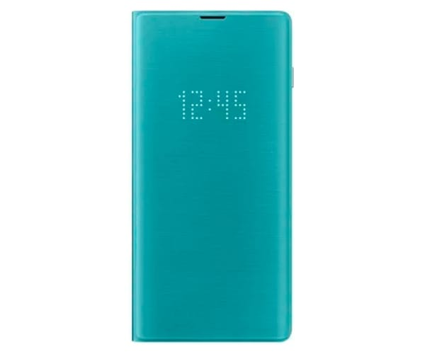 SAMSUNG GALAXY S10+ LED VIEW COVER VERDE FUNDA CON TAPA Y LED EN CUBIERTA