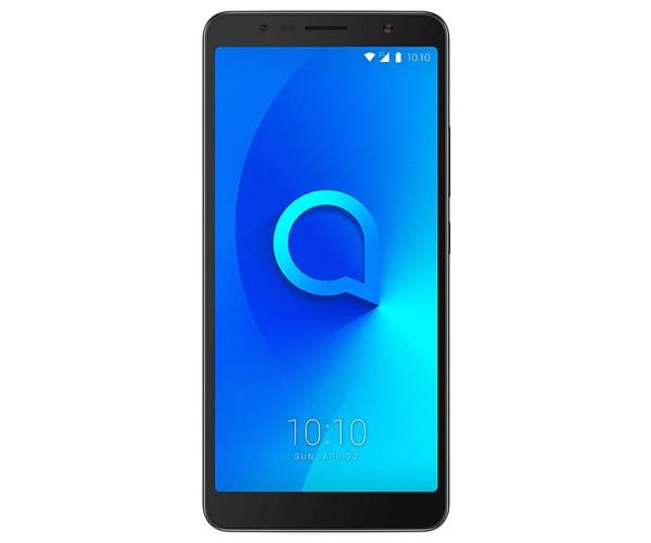ALCATEL 3C NEGRO METÁLICO MÓVIL 3G DUAL SIM 6.0'' IPS HD+/4CORE/16GB/1GB RAM/13MP/8MP