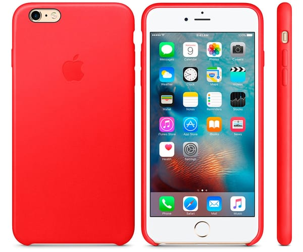 APPLE MKXG2ZM/A ROJO CARCASA DE SILICONA IPHONE 6 PLUS/ 6S PLUS