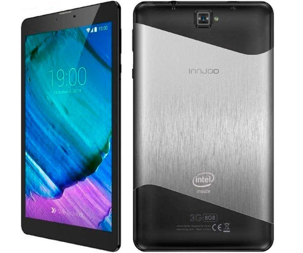 INNJOO IGNITE TABLET 3G NEGRO Y PLATA 7'' IPS/4CORE/8GB/1GB RAM/5MP/2MP