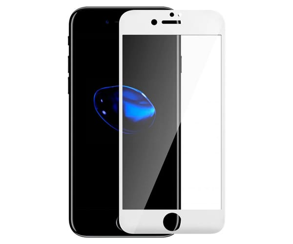 AKASHI PROTECTOR DE CRISTAL 9H TEMPLADO APPLE IPHONE 8/7/6s/6 BLANCO