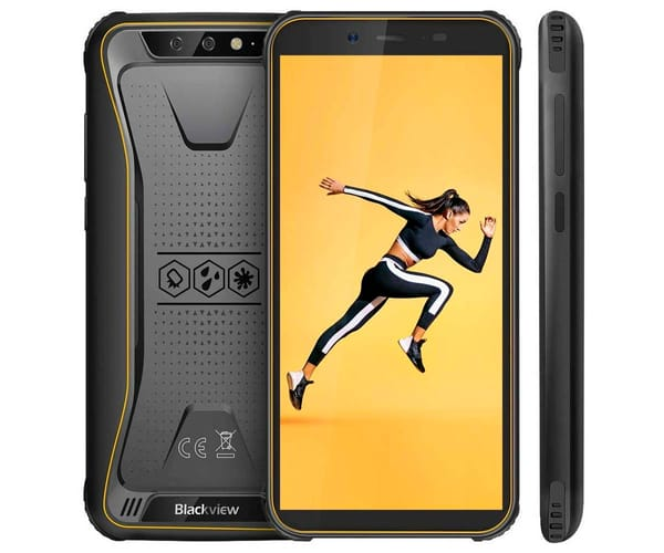 BLACKVIEW BV5500 PRO AMARILLO MÓVIL RESISTENTE DUAL SIM 4G 5.5'' IPS HD/4CORE/16GB/3GB RAM/8+0.3MP/8MP