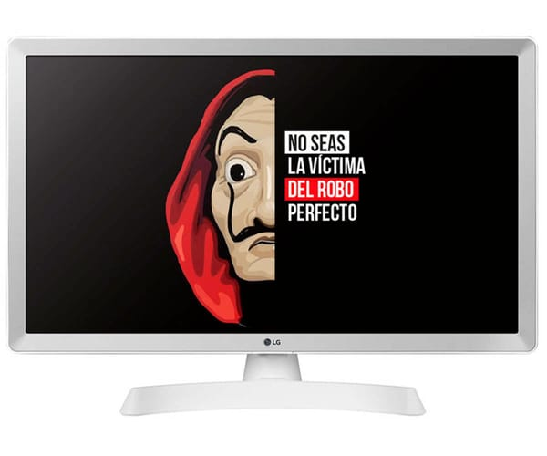 LG 24TL510S-WZ BLANCO TELEVISOR MONITOR 24'' LCD LED HD SMART TV HDMI USB 8ms LAN WIFI COMPONENTES COMPUESTA ÓPTICA