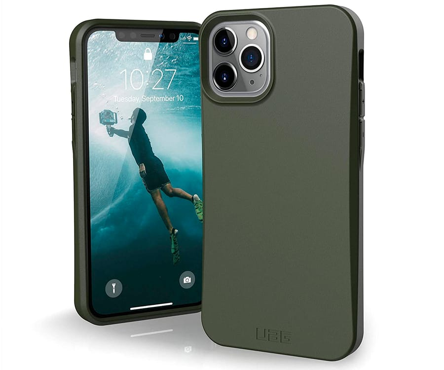 UAG BIODEGRADABLE OUTBACK VERDE OLIVA CARCASA APPLE IPHONE 11 PRO 5.8'' RESISTENTE