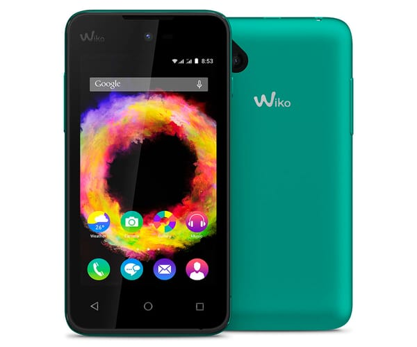 WIKO SUNSET2 MÓVIL 2G 4''/DUAL-CORE/DUAL SIM/4GB/512MB RAM/2MP TURQUESA