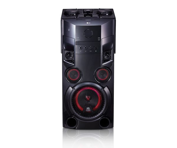 LG OM5560 TORRE DE ALTAVOCES 500W CON BLUETOOTH, REPRODUCTOR CD Y USB