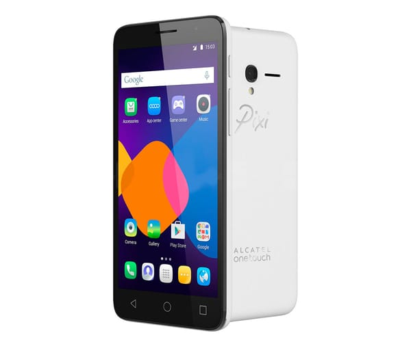 ALCATEL PIXI 4 (5) BLANCO 5010D MÓVIL DUAL SIM 5''/4CORE/8GB/1GB RAM/8MP/5MP