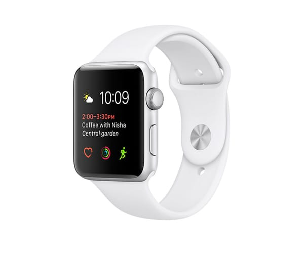 APPLE WATCH SERIES 2 42mm PLATA/BLANCO MNPJ2QL SMARTWATCH CON GPS RESISTENTE AL AGUA