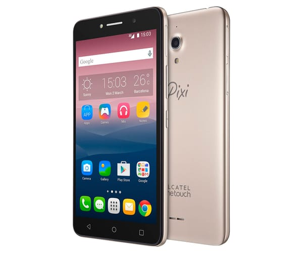 ALCATEL PIXI 4 (6) DORADO 8050 MÓVIL 6'' IPS/4CORE/8GB/1GB RAM/8MP/5MP