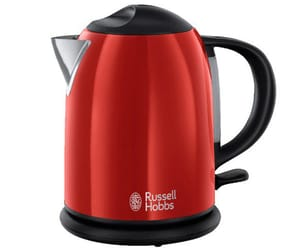 RUSSELL HOBBS HERVIDOR COMPACTO FLAME ROJO