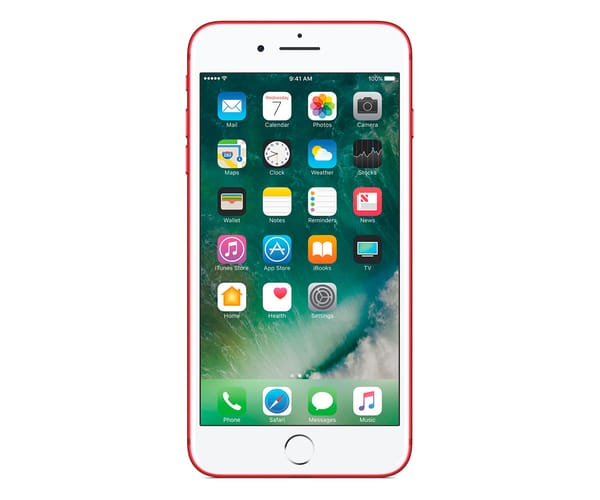 APPLE IPHONE 7 PLUS 128GB ROJO MPQW2QL/A MÓVIL 4G 5.5'' IPS/4CORE/256GB/3GB RAM/12MP DUAL OIS/7MP