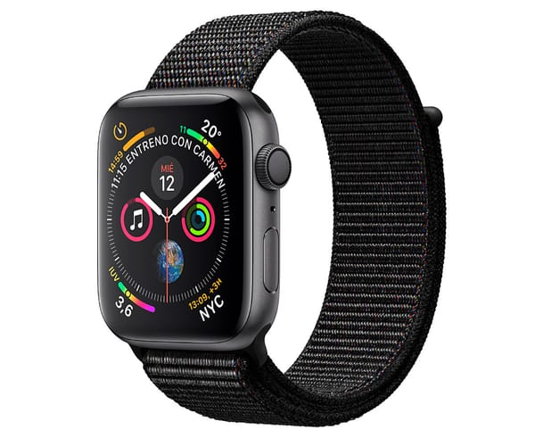 APPLE WATCH SERIES 4 GRIS ESPACIAL CON CORREA LOOP NEGRA RELOJ 40MM SMARTWATCH 16GB WIFI BLUETOOTH GPS PANTALLA OLED