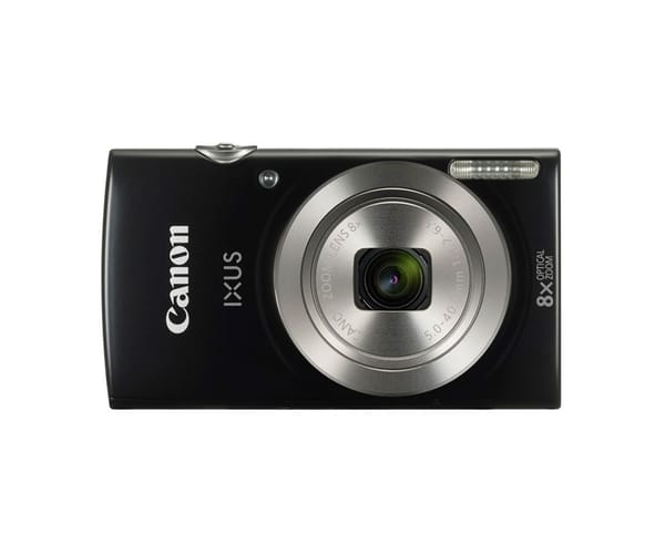 CANON IXUS 185 NEGRA KIT CÁMARA 20MP ZOOM 8X GRAN ANGULAR Y FUNDA DE TRANSPORTE