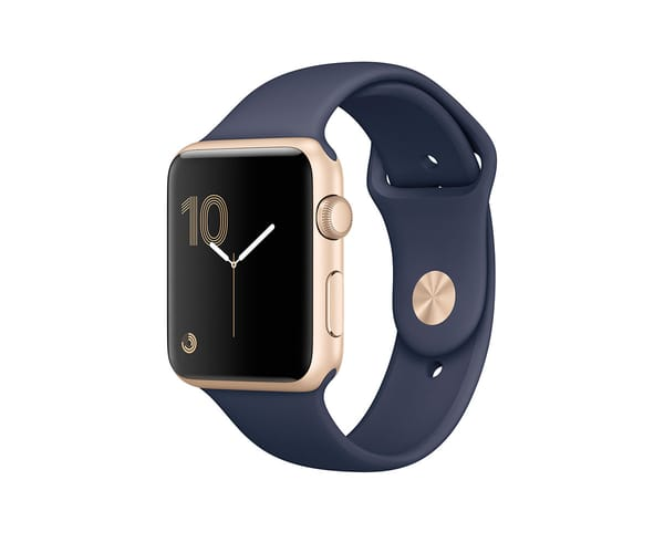 APPLE WATCH SERIES 2 42mm ORO/AZUL NOCHE MQ152QL SMARTWATCH CON GPS RESISTENTE AL AGUA