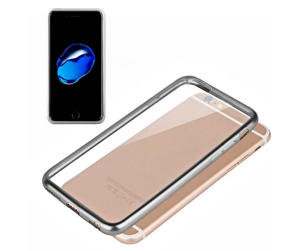 AKASHI BORDES PLATA CARCASA TRANSPARENTE IPHONE 7 PLUS
