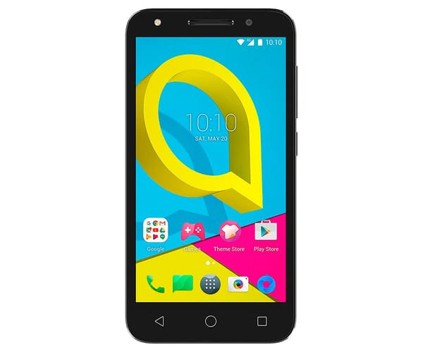 ALCATEL U5 5044D NEGRO MÓVIL 4G DUAL SIM 5'' IPS/4CORE/8GB/1GB RAM/5MP/2MP