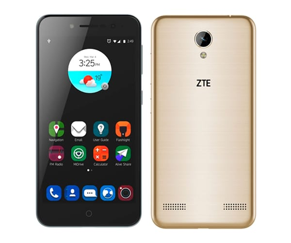 ZTE A520 DORADO MÓVIL DUAL SIM 4G 5'' IPS/4CORE/16GB/2GB RAM/13MP/8MP