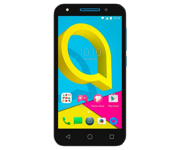 ALCATEL U5 4047D NEGRO AZUL MÓVIL 3G DUAL SIM 5'' IPS/4CORE/8GB/1GB RAM/5MP/2MP