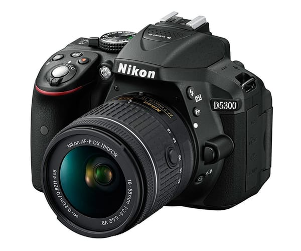NIKON D5300 + AF-P DX NIKKOR 18-55mm VR CÁMARA REFLEX 24MP FULL HD WI-FI Y GPS