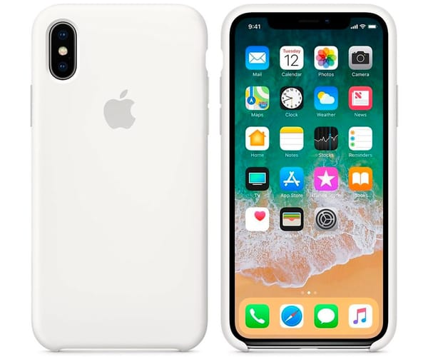 APPLE MQT22ZM/A BLANCO CARCASA DE SILICONA IPHONE X