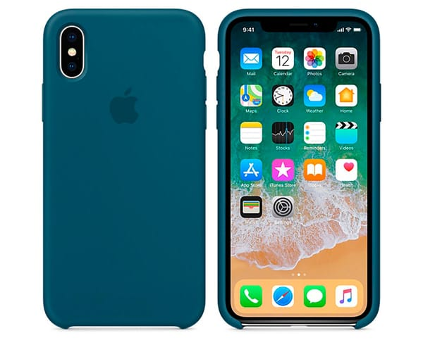 APPLE MR6G2ZM/A AZUL COSMOS CARCASA DE SILICONA IPHONE X